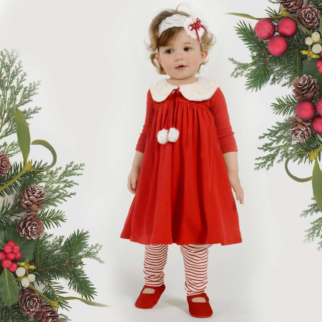 baby-girl-christmas-dress-with-faux-fur-collar-bebe-fashion-etsy